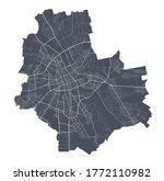 warsaw map. detailed vector map ... | Shutterstock .eps vector #1772110982