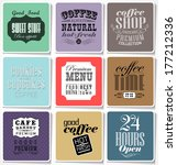 retro colored bakery labels and ... | Shutterstock . vector #177212336