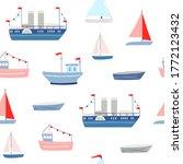 ship seamless pattern. vector...   Shutterstock .eps vector #1772123432