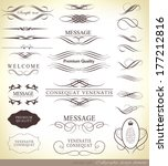 calligraphic design elements... | Shutterstock . vector #177212816