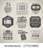 retro bakery labels and... | Shutterstock . vector #177212882