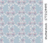 pastel floral striped seamless... | Shutterstock .eps vector #1772129495