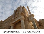 Small photo of Ancient ruins of Leptis Magna in Libya