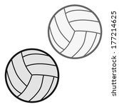 valley ball vector illustration | Shutterstock .eps vector #177214625