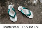 White Flip Flop Isolated On...
