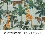 tropical seamless pattern with... | Shutterstock . vector #1772171228