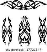 tribal tattoos | Shutterstock .eps vector #17721847