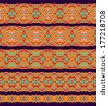 set of seamless decorative... | Shutterstock .eps vector #177218708