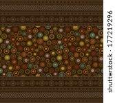 seamless colourful oriental... | Shutterstock .eps vector #177219296