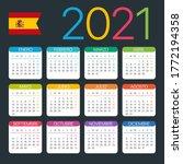 2021 calendar   vector template ... | Shutterstock .eps vector #1772194358