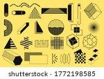 geometric shapes. memphis... | Shutterstock .eps vector #1772198585