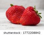 Fresh Ripe Perfect Strawberry...