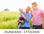 Family Walking In Field...
