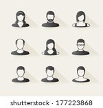 people icons | Shutterstock .eps vector #177223868