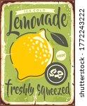 fresh lemonade metal sign... | Shutterstock .eps vector #1772243222