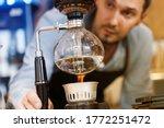 Syphon Coffee Brewing Process....