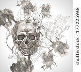 abstract background with skull  ... | Shutterstock .eps vector #177225968
