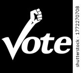 black lives matter vote 2020... | Shutterstock .eps vector #1772270708