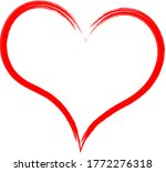 red heart   doodle style...   Shutterstock .eps vector #1772276318
