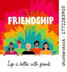 happy friendship day greeting... | Shutterstock .eps vector #1772283905