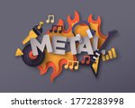 heavy metal music style... | Shutterstock .eps vector #1772283998