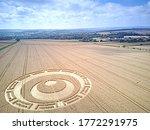 Crop Circle Wiltshire Uk Drone...