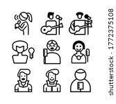 singer icon or logo isolated... | Shutterstock .eps vector #1772375108