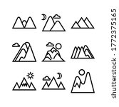 mountain icon or logo isolated...   Shutterstock .eps vector #1772375165