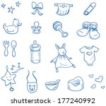 baby icons  toys  shoes  nappy  ... | Shutterstock .eps vector #177240992