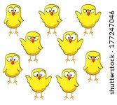 yellow little waving bird... | Shutterstock .eps vector #177247046
