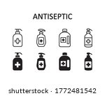 antiseptic icon set. vector...