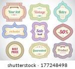 vintage universal labels  ... | Shutterstock .eps vector #177248498