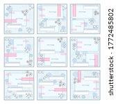 social media pack template for... | Shutterstock .eps vector #1772485802