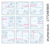 social media pack template for... | Shutterstock .eps vector #1772485805
