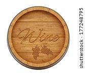 render of a wine barrel from...   Shutterstock . vector #177248795
