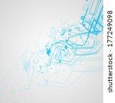 futuristic technology... | Shutterstock . vector #177249098