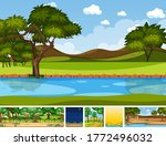 set of different nature place... | Shutterstock .eps vector #1772496032