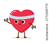 cartoon red heart with...   Shutterstock .eps vector #1772509775