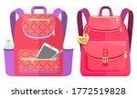 colored school backpack.... | Shutterstock .eps vector #1772519828