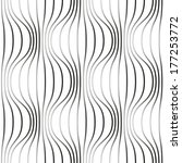 seamless pattern with wavy... | Shutterstock . vector #177253772