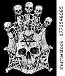 evil skull with crossbones and...   Shutterstock .eps vector #1772548085