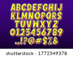 modern retro cartoon alphabet... | Shutterstock .eps vector #1772549378
