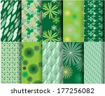 10 different leaf vector... | Shutterstock .eps vector #177256082