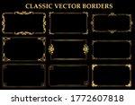 set of classic vintage frames... | Shutterstock .eps vector #1772607818