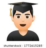 graduation emoji.face emoji... | Shutterstock .eps vector #1772615285