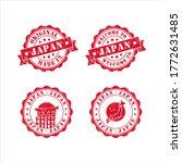 stamp welcome to japan vector...   Shutterstock .eps vector #1772631485