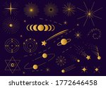 set of vector space elements... | Shutterstock .eps vector #1772646458