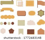 set of title index template  ... | Shutterstock .eps vector #1772683148