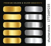 gold and sliver color gradient... | Shutterstock .eps vector #1772689235