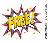 free   comic book style banner. ...   Shutterstock .eps vector #1772691602